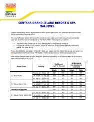 centara grand island resort & spa maldives - Diethelm Travel Asia