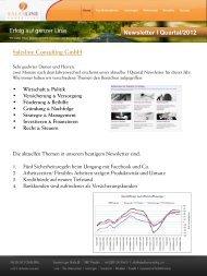 Newsletter I Quartal/2012 Salesline Consulting GmbH