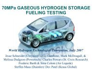 70MPa GASEOUS HYDROGEN STORAGE FUELING TESTING