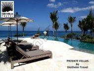PRIVATE VILLAS by Diethelm Travel - Diethelm Travel Asia
