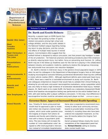 Inside this issue: - School of Medicine - University of Virginia