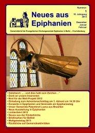 Dezember 2012 bis Februar 2013 - Epiphanien
