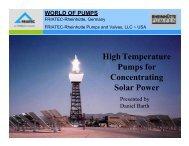 High-Temperature Pumps for Concentrating Solar Power - NREL