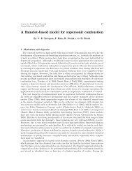 A flamelet-based model for supersonic combustion - Center for ...