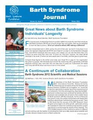 Volume 11, Issue 2 - Barth Syndrome Foundation