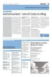 4. moSE 6, 24–26 - Evangelisch-Reformierte Kirchen der Schweiz