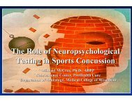 The Role of Neuropsychological Testing in Sports Concussion