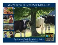 VERMONT'S NORTHEAST KINGDOM - Northeast Organic Farming ...
