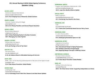2011 Annual Meeting & IAHSA Global Ageing - LeadingAge