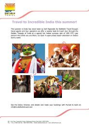 Travel to Incredible India this summer! - Diethelm Travel Asia