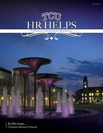 In this issue... - TCU - Human Resources - Texas Christian University