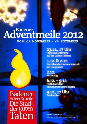Badener Adventprogramm - Badener Adventmeile