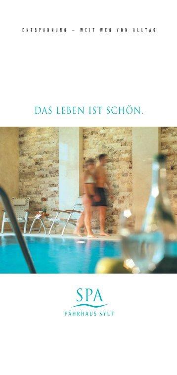 Spa-Broschüre - Hotel Fährhaus Sylt