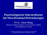 Psychologische Interventionen bei Herz-Kreislauf ... - PTK Bayern