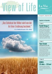 View of Life Ausgabe 9 | September 2012 - La Vie