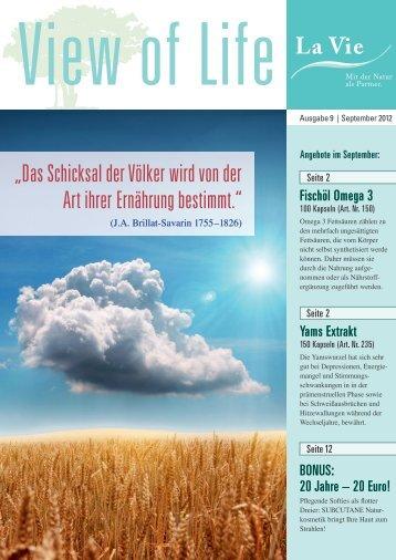 View of Life Ausgabe 9 | September 2012 - La Vie