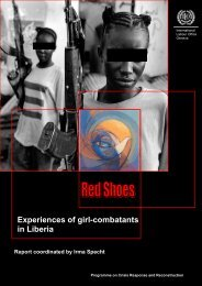 Red Shoes: Experiences of Girl-Combatants in Liberia