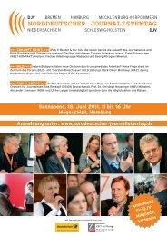 www.norddeutscher-journalistentag.de - DJV Hamburg