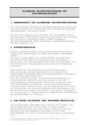 ALLGEMEINE GESCHÄFTSBEDINGUNGEN DER - Papyrus