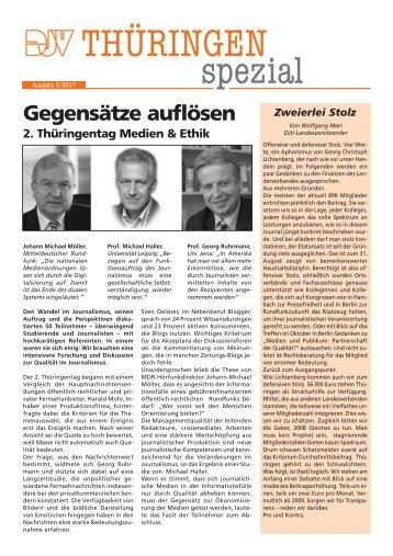 Schutz vor staatlichen Abhör-Maßnahmen Harsche ... - DJV Thüringen