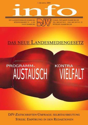 DJV Info Ausgabe 1. Quartal 2004 - DJV Hamburg