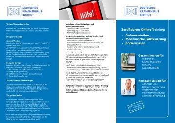 Zertifiziertes Online-Training - Deutsches Krankenhaus Institut