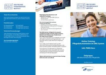Online-Training - Deutsches Krankenhaus Institut
