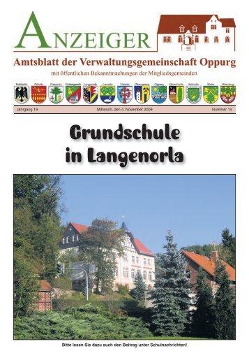 Grundschule in Langenorla - Verwaltungsgemeinschaft Oppurg