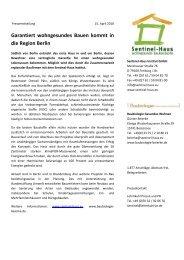 Garantiert wohngesundes Bauen kommt in die Region Berlin