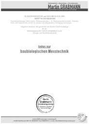 baubiologischen Messtechnik - Elektrosmog Messung
