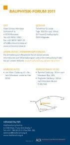BAUPHYSIK FORUM 2011 - proHolz - Seite 7