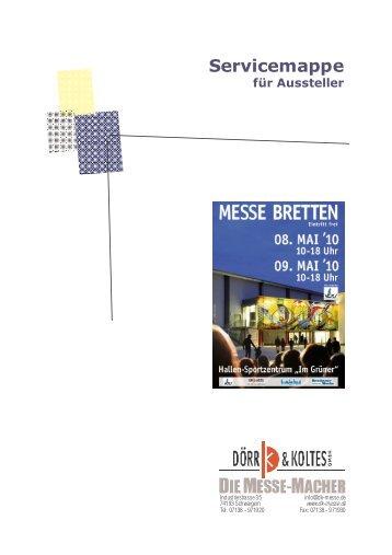 Servicemappe - Dörr & Koltes Messen und Ausstellungen