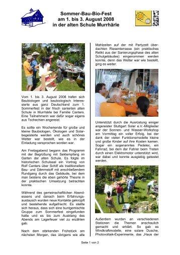 Sommer-Bau-Bio-Fest am 1. bis 3. August 2008 in ... - bauplusenergie
