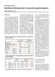 Modifizierte Walzasphalte im Spurbildungstestvergleich