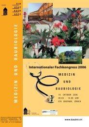 zur Tagung 2006 MEDIZIN UND BAUBIOLOGIE
