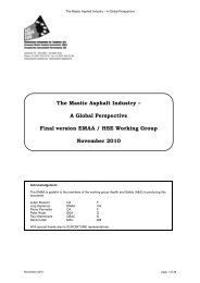The Mastic Asphalt Industry – A Global Perspective