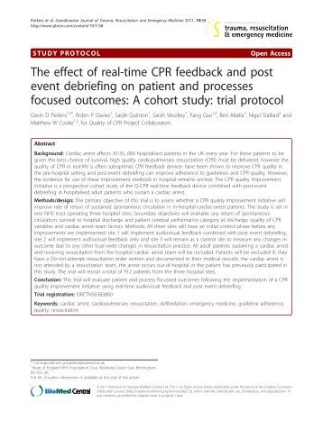 The effect of real-time CPR feedback and - scandinavian journal of ...