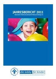 Jahresbericht 2011 - Kinderschutzbund in Braunschweig