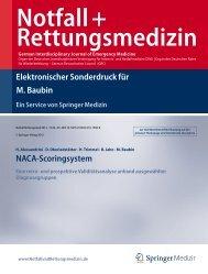 Elektronischer Sonderdruck für NACA-Scoringsystem M. Baubin