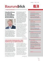 Baurundblick - ÖPP-Plattform, Öffentlich Private Partnerschaften