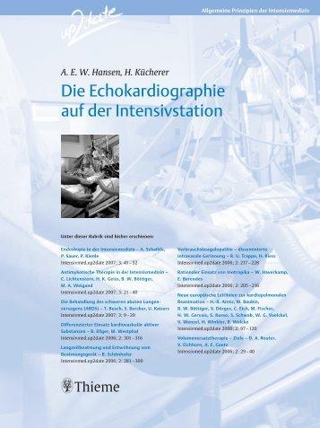 Die Echokardiographie auf der Intensivstation - Kliniken im ...