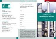 Fachbauleiter Brandschutz - AIK Akademie für Immobilienkompetenz