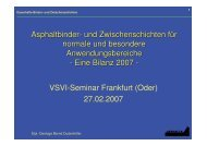 Dauerhafte Binder- und Zwischenschichten - VSVI