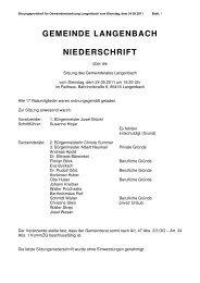 gemeinde langenbach niederschrift