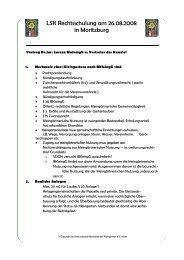 LSK Rechtsschulung - Kreisverband Mittweida der Kleingärtner eV