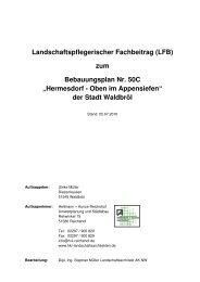 """zum Bebauungsplan Nr. 50C """"Hermesdorf - Oben ... - Stadt Waldbröl"""