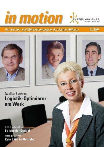 Logistik-Optimierer am Werk - System Alliance