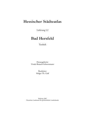 Bad Hersfeld* - Landesgeschichtliches Informationssystem Hessen ...