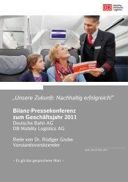 Unsere Zukunft: Nachhaltig erfolgreich! - Deutsche Bahn AG