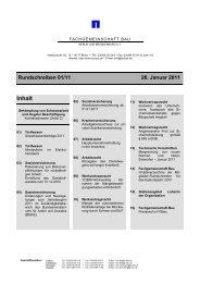 Rundschreiben 01/11 26. Januar 2011 - Fachgemeinschaft Bau